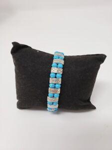 Tibetan Silver & Turquoise Beads Bracelet - New