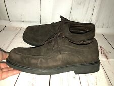 Hush Puppies Brown Suede Oxfords Zero G Lace Up Loafers Shoes Size 11 / 45 13751