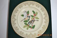1988 Lenox Garden Bird Plate Collection Chickadee Plate with Box Coa