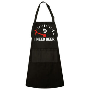 Out Of Energy I Need Beer Funny Beer Lover Kitchen Cooking Unisex Apron 3 Pocket