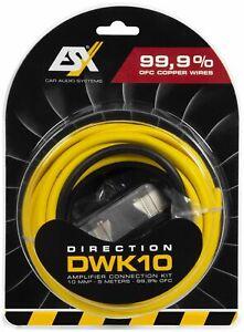 ESX DIRECTION DWK10 10 qmm Verstärker Anschluss Kabelset Anschlusskit