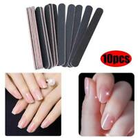 10x DOUBLE SIDED SENSASHES NAIL FILES EMERY BOARD STRAIGHT NAIL FILE KIT SET
