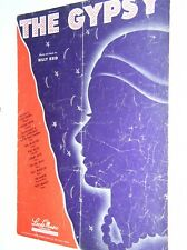 """VINTAGE 1945 SHEET MUSIC: """"THE GYPSY"""" WORDS & MUSIC BY BILLY REID PIANO ARR"""