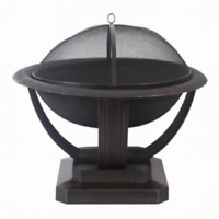 """35"""" Large Outdoor Fire Pit Wood Burning Heater Backyard Patio Steel Fireplace"""