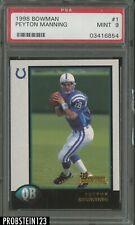 1998 Bowman #1 Peyton Manning Indianapolis Colts RC Rookie PSA 9 MINT