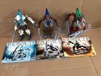 Lego Bionicle Bundle Of 3 8619, 8617, 8614