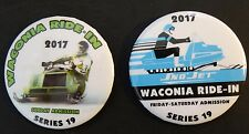 "New listing (2) ""Waconia 2017"" Sno Jet & Kawasaki Snowmobile Pinback Buttons New"