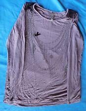T-shirt sweat violet et noir fille taille 14 Ans