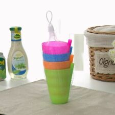 4Pcs/Set Kids Children Infant Baby Sip Cup with Built in Straw Mug Drink Feeding