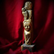 Antique German Sindelfingen Glauer Mother Child Bronze Gold Sculpture Statue