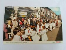 Vintage Postcard Helston Flora Day Children's Dance Cornwall #82