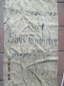 alter Mehlsack Maihingen bei Nördlingen 1902 Leinen Leinensack