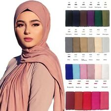 Lycra Jersey Scarf Ladies Wrap Hijab strechy fabric wedding