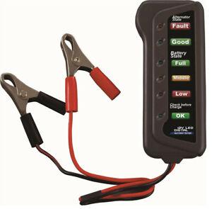 12V Car Battery & Alternator Tester-Test Condition Charging (LED indicatioU8B9