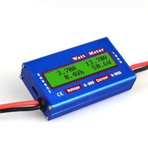 Digital Monitor LCD Watt Meter Ammeter RC Battery Power Amp Analyzer DC 60V/100A