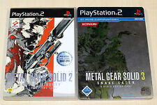 PLAYSTATION 2 SPIELE SAMMLUNG METAL GEAR SOLID 2 3 SNAKE EATER STEELBOOK SHOOTER