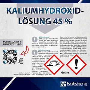 Kaliumhydroxid-Lösung, Kalilauge, KOH, Ätzkali 45 %   FURTH CHEMIE
