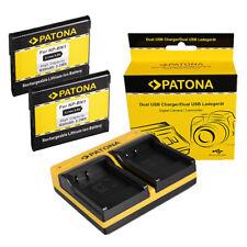 2x Batteria Patona + caricabatteria USB doppio per Sony DSC-TX55,DSC-TX66