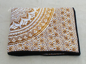 Bohemian Indian Handmade 100%Cotton Reversible Baby Quilt Throw New Baby Blanket