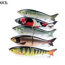 "7"" 82g Shad Fishing Lure Swimbait Slow Sinking Bass Pike Fish Bait VMC Hooks"