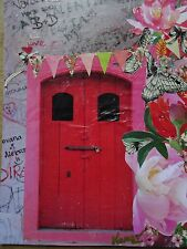 Tableau Derrière la porte Collage sur carton toile  Karago
