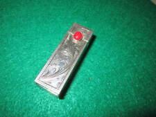 Vintage Southwestern  Sterling Silver Lipstick Case Coral Stone  27.2 gr