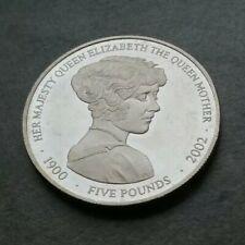 Jersey 5 Pounds 1900 2002 Queen Elizabeth Queen Mother Silver 28,25 g #M756