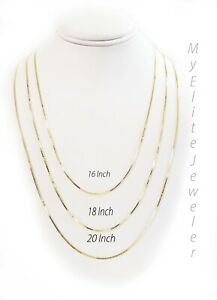 """Solid 10K Yellow Gold Chain 16"""" 18"""" 20 Inch Ladies Necklace PERFECT FOR PENDANT"""