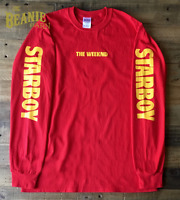 STARBOY the weeknd red long sleeve tour merch XO