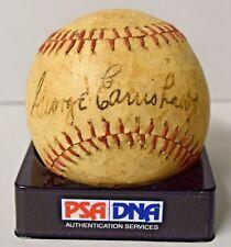 GEORGE EARNSHAW SIGNED AUTO BASEBALL TY COBB+FOXX TEAM MATE 1929 A'S  PSA/DNA