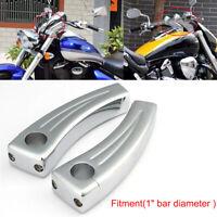 "5.5"" Chrome Motorcycle Cruisers Bike Handlebar Pullback Riser (For 1"" Inch Bars)"