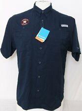 NEW Houston Astros Navy Blue MLB Columbia Omni-Shade Tamiami SS Shirt Men's L