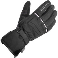 Richa Peak Motorcycle Textile Waterproof Motorbike Light Weight Gloves - Black
