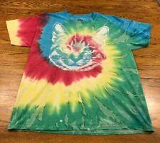 Tie Dye Cat Kitten T Shirt Adult Medium/Large