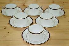 """Chastagner Fabrique par Limoges CNR4 (6) Flat Cups, 2 1/8"""" & (6) Saucers, 5 3/4"""""""