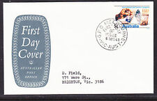 """Australia  APO """"Solid Grey"""" - 1968 -  5c Soil Congress  First Day Cover - Vic"""