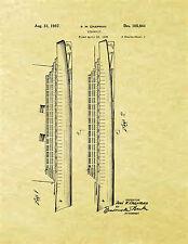 Display Art Print US PATENT for STEAMSHIP Nautical Vintage Chapman 1937