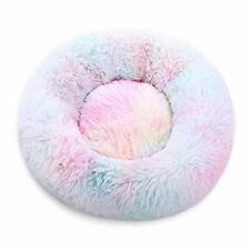 Marshmallow Cat Bed Round Donut Beds Sofa for Small Dogs Fur Cuddler Indoor New