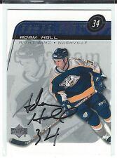Adam Hall Signed 2002/03 Upper Deck Young Guns Rookie Card #211