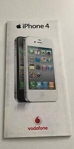 Old Stock Apple iPhone 4 4th Generation Network Tariff Leaflet - 2010 RARE.