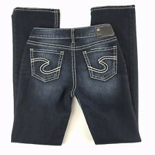 Silver Womens SUKI High Slim Boot Jeans Size 26x33