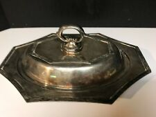 Sheffield English Silver Plated Lidded Entree Dish with Detachable Handle