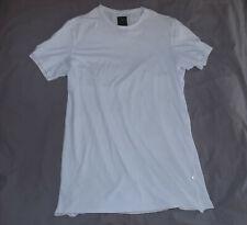 MAHARISHI of Japan 100% Organic Cotton Elongated T shirt-Size Large-White-Great