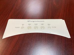 Frigidaire PN 241611208 Refrigerator Dispenser Front Cover Label only, OEM New