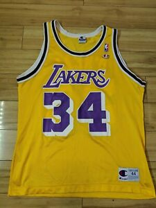 Shaquille O'Neal Los Angeles Lakers Official Champion NBA Jersey Size 44 LA Shaq