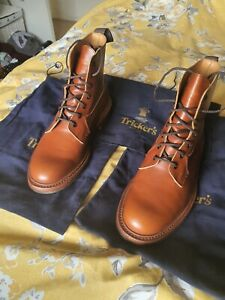 Trickers Burford Boots - Size 8.5 - 4497S - Marron - No box but includes Bags