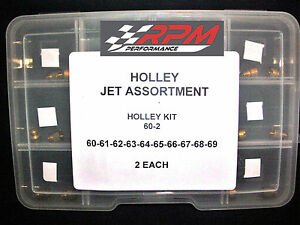 Holley Carburetor JET ASSORTMENT KIT 60 to 69 2 EACH 1/4-32 GAS MAIN 20PACK 60-2