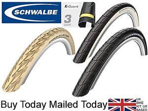 26 x 1 3/8 SCHWALBE Delta Cruiser Tyres Black White Cream with Kevlar Protection