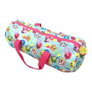 """Shopkins Overnight Duffle Carry Bag with Kooky Cookie zipper Pull 18"""" Long"""