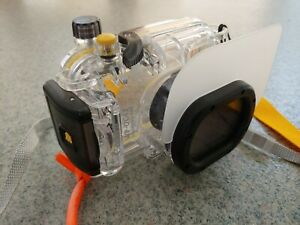 Canon 40m/130ft WP-DC43 Waterproof Case great condition, appears unused w/straps